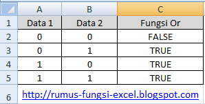 fungsi OR di Excel