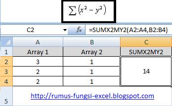 cara menghitung kuadrat pada excel