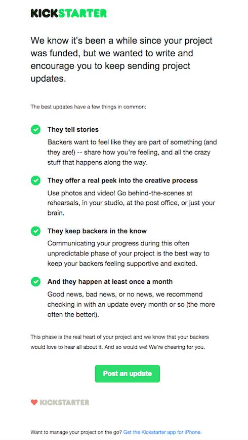 email para limpeza da lista segmentada