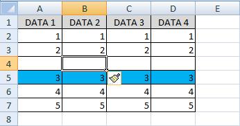 cara menggunakan fungsi entire row di excel