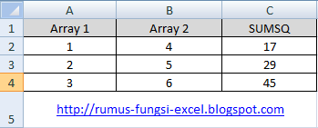 cara menghitung kuadrat di excel