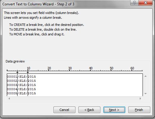 cara menggunakan fungsi text to columns di office excel