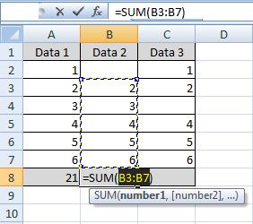 cara cepat fungsi sum di excel
