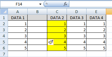 cara insert entire column di excel