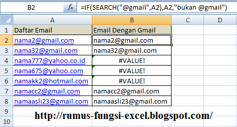 Fungsi Search pada excel